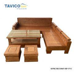 Bộ sofa góc tựa cảnh mặt liền -tần bì màu xoan đào1