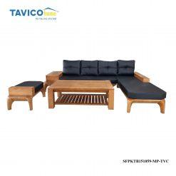 Bộ Sofa góc chân hươu - gỗ tần bì màu đinh hương1