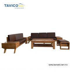 Bộ sofa 2 văng chân chéo -gỗ tần bì màu đinh hương1