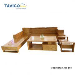 Bộ sofa 3 ngăn kéo - gỗ tần bì màu đinh hương1