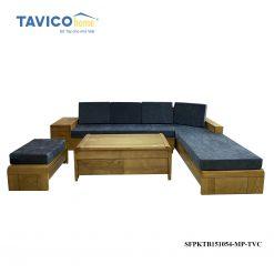 Bộ sofa góc chân cong -gỗ tần bì màu đinh hương1